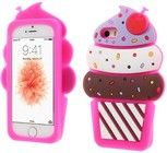 Trolsk 3D Cherry Ice Cream Case (iPhone 5/5S/SE) - Mørk rosa