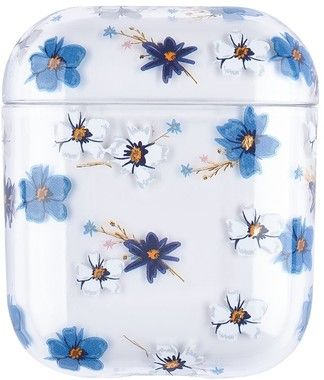 Trolsk Printed Case - Blue Flowers (AirPods 1/2)
