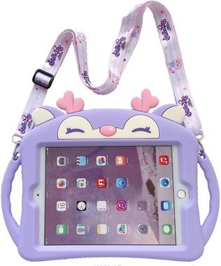 Trolsk Kids Case with strap - Purple Deer (iPad mini 5/4)