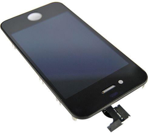 iPhone 4 skjerm med LCD - Hvit 04-02-W