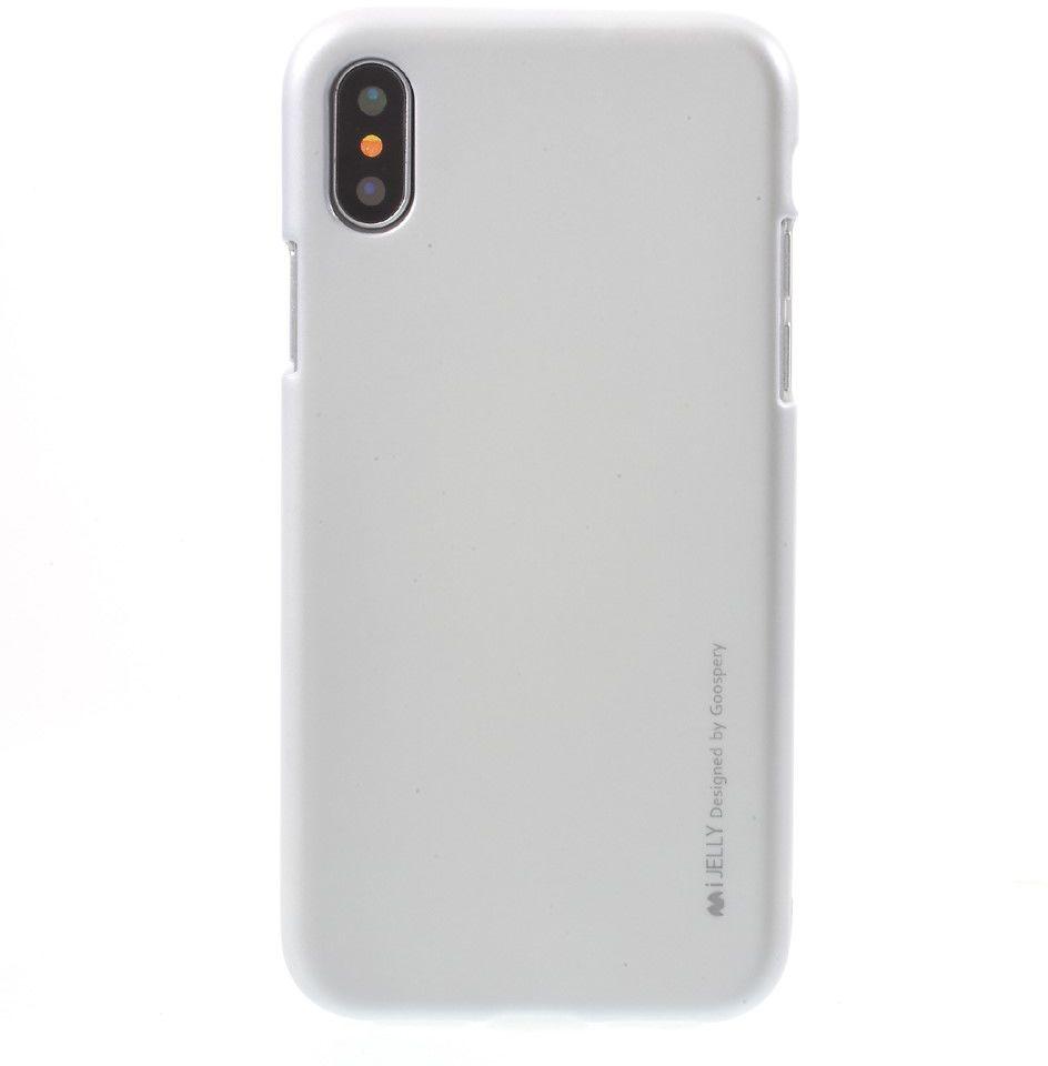 Mercury Metallic Jelly Case Iphone X Goospery New Bumper Silver