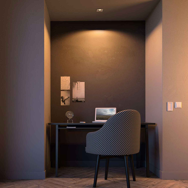 philips hue iskin spot square m fjernkontroll. Black Bedroom Furniture Sets. Home Design Ideas