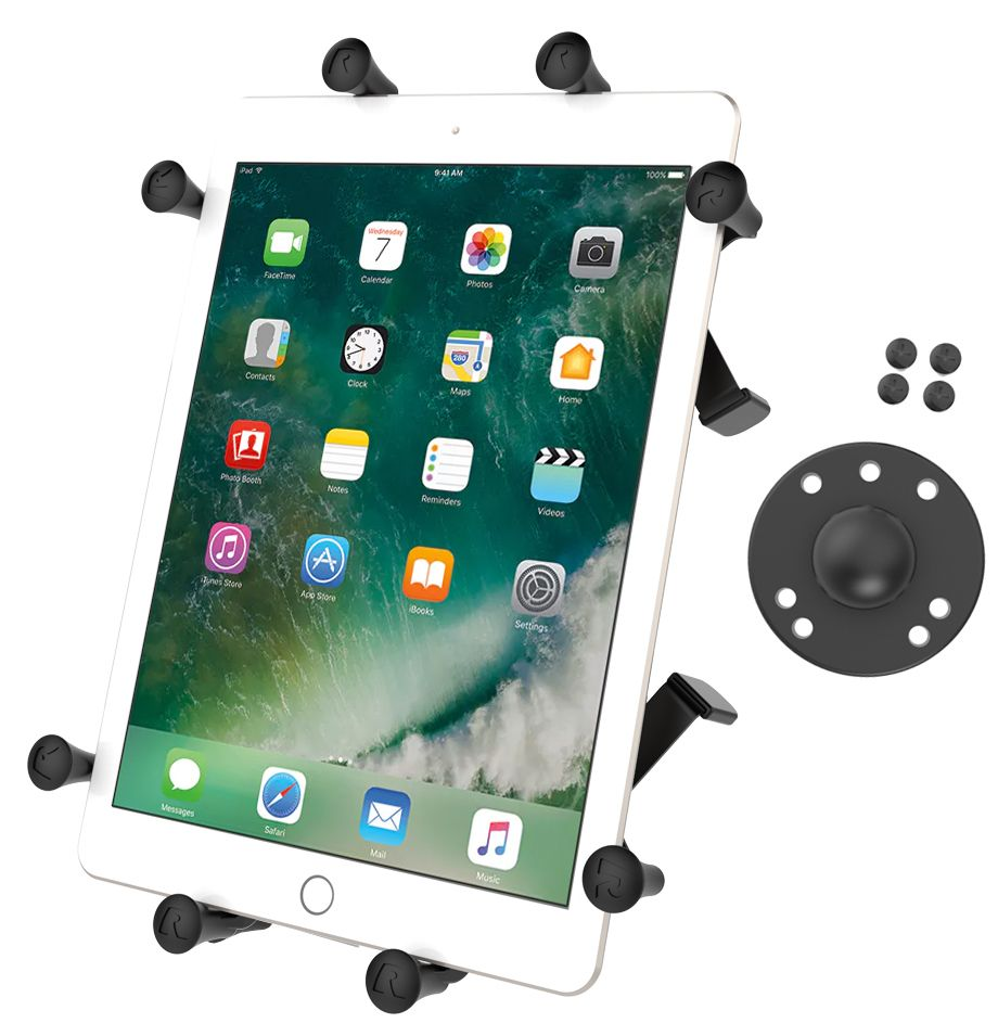 RAM Mount Tough-Claw + Flex-Rod + X-Grip för rullstolar (iPad)