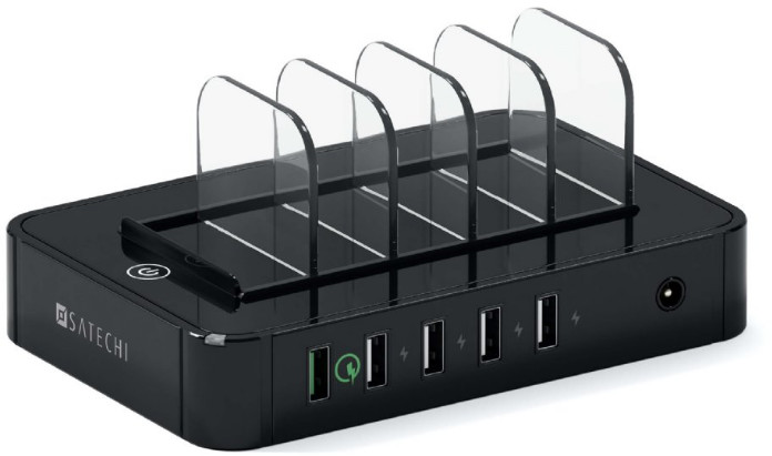 Satechi 5-Port USB Charging Station - svart